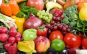 Lots of different fruit & vegetables